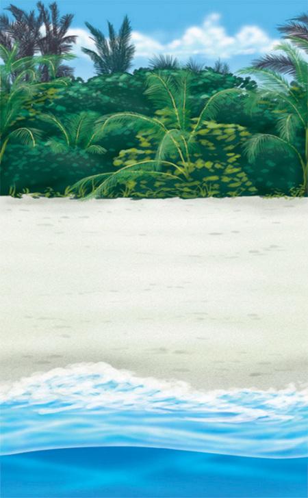 Beach backdrop - room roll - 12 m long!