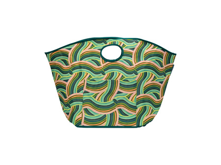 BEACH BAG CURVED LINES