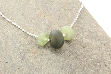 Bead ball chain necklace - Green
