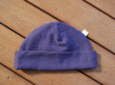 Beanie in 'Patriot Blue' 100% Cotton Knit. 6 mths - 4 yrs