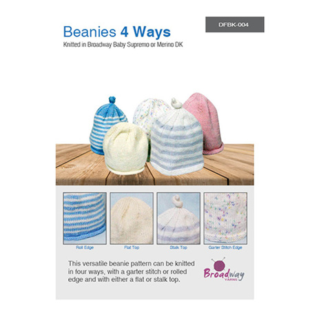 Beanies 4 Ways by Broadway Yarns