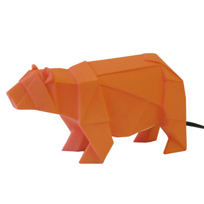 Bear Origami Lamp - Orange