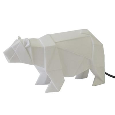 Bear Origami Lamp - White