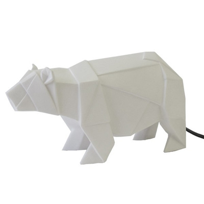 Bear Origami Lamp - White