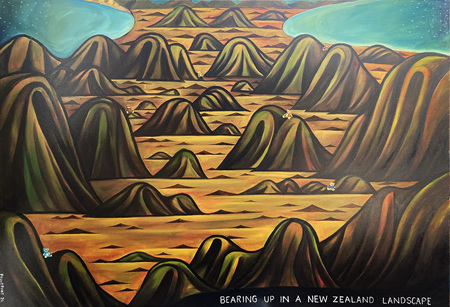 Bearing Up in a New Zealand Landscape