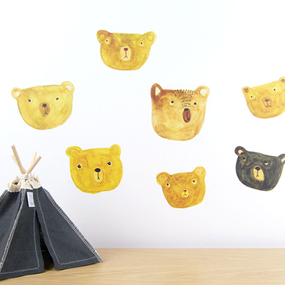 Bears wall decal