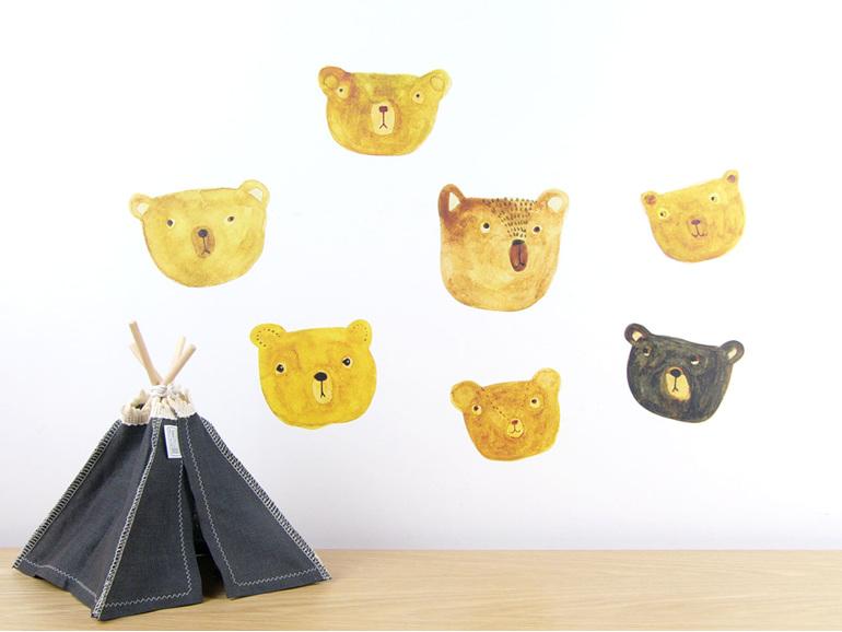 Bears wall decal
