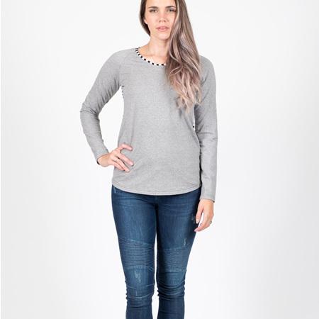 Beaut Long Sleeve Top - Grey