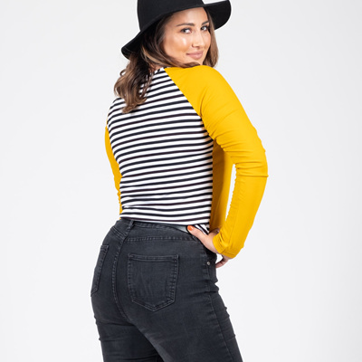 Beaut Long Sleeve Top - Mustard