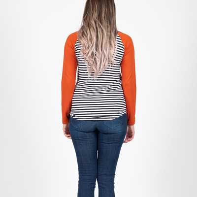 Beaut Long Sleeve Top - Rust