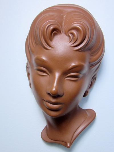 Beautiful Charlott - Vintage Wormser Terra-Sigillata German Mask Wall Hanging