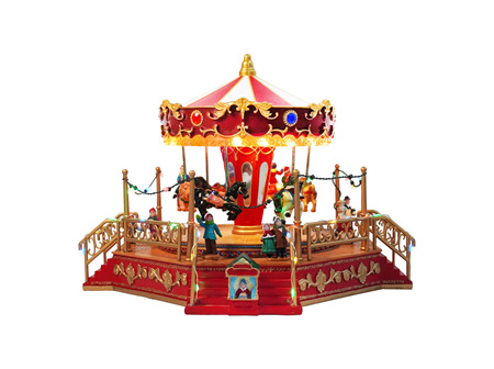 Beautiful Christmas Carousel with Music