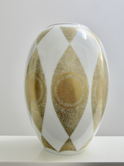 Beautiful Gold and White Vintage Porcelain Vase by Kaiser Porzellan