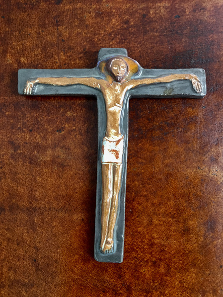 Beautiful Modernist Ceramic Crucifix