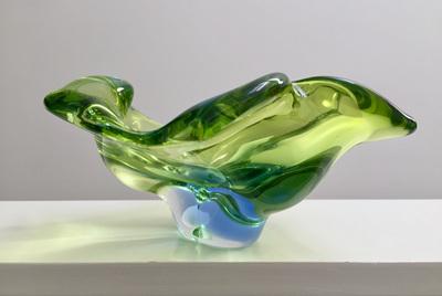 Beautiful Vintage Biomorphic Glass Bowl