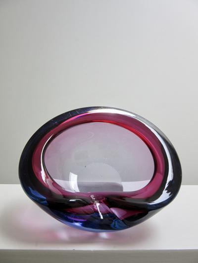 Beautiful Vintage Murano Glass Geode Bowl