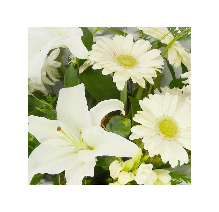 beautiful white and green toned bouquet from flowerise epsom florist