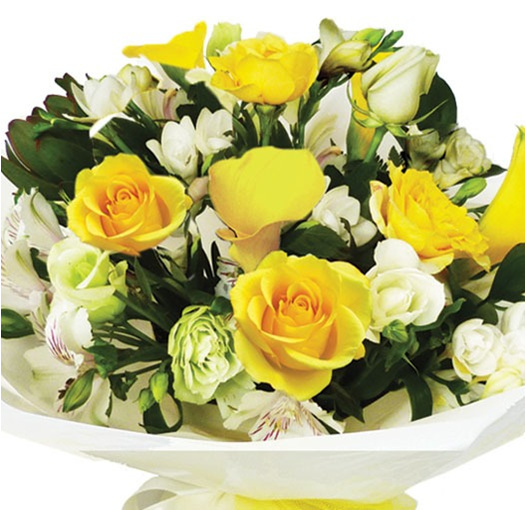 beautiful yellow bouquet delivered auckland wide