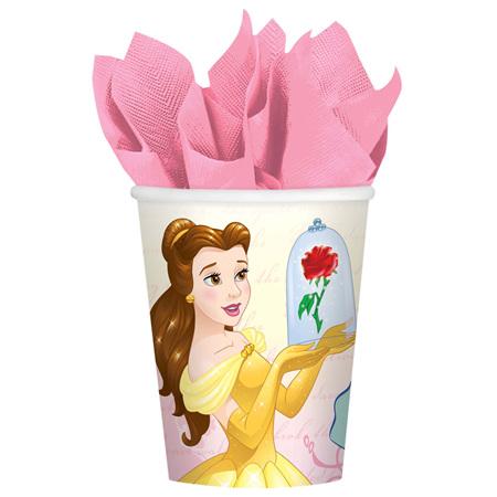 Beauty & The Beast cups x 8