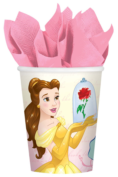 Beauty & The Beast cups x 8