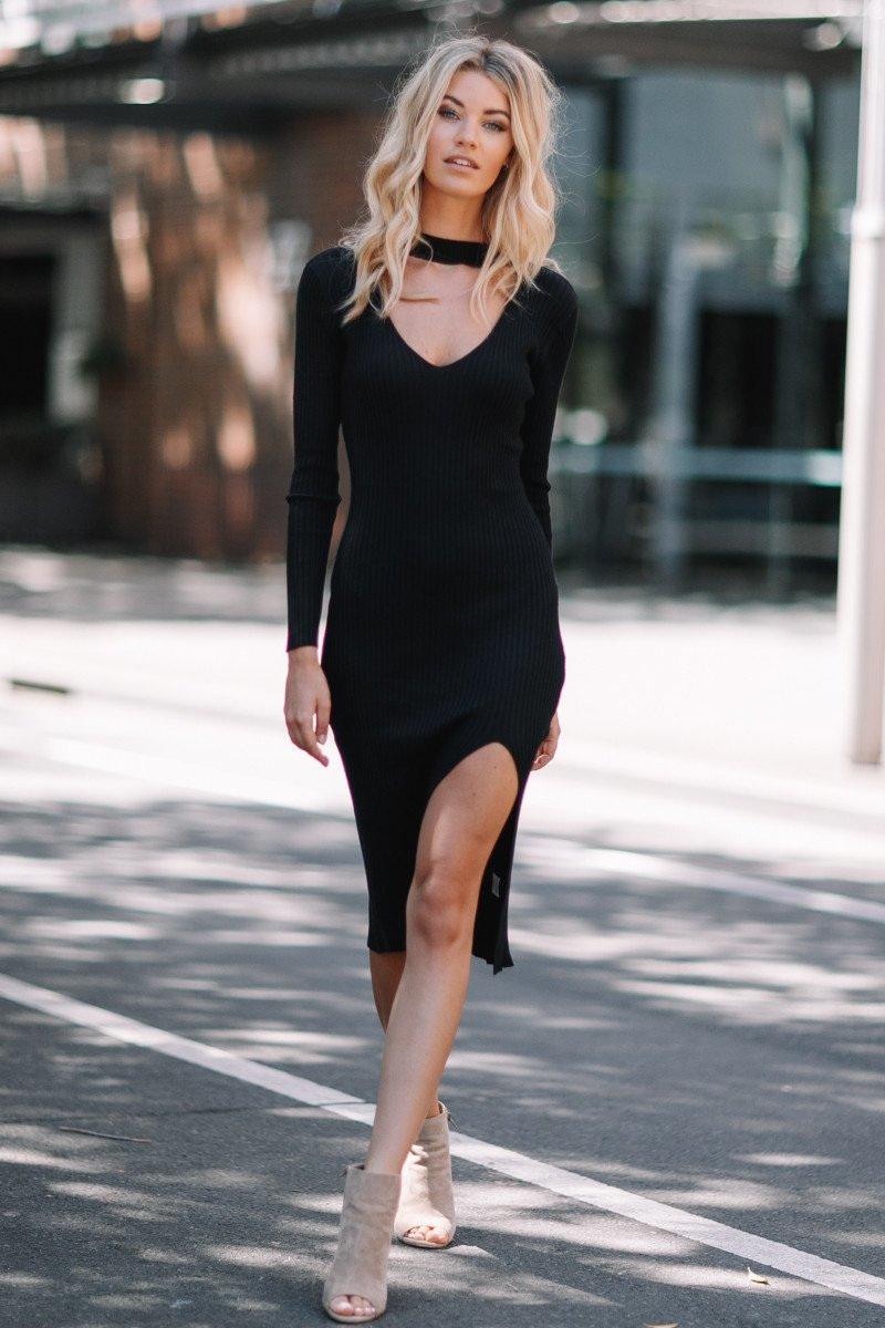 becky dress black kode boutique