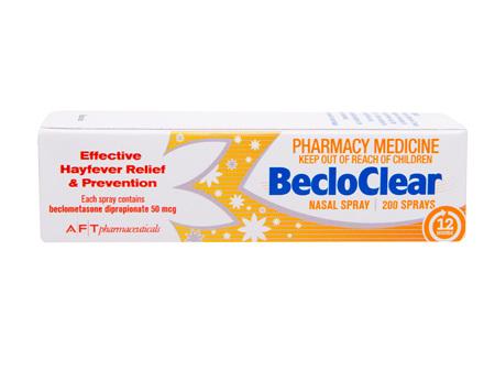 BecloClear Nasal Spray 50mcg