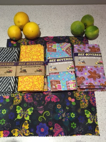 Bee Covered Food Wrap - Large