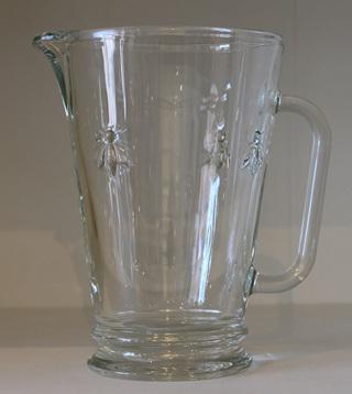 Bee Glassware Water Jug