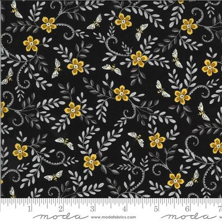 Bee Grateful Ebony Flowers Vines & Bees 19964-15
