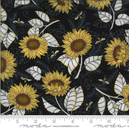Bee Grateful Ebony Sunflower Studies 19962-14
