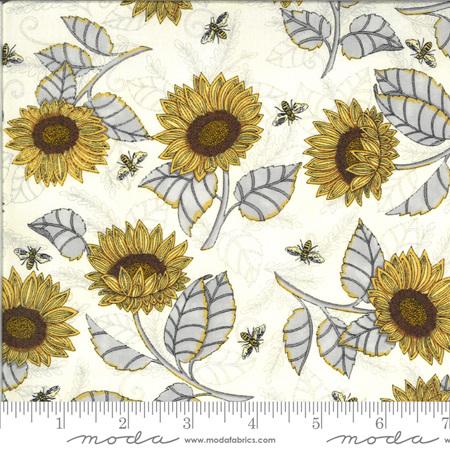 Bee Grateful Parchment Sunflower Studies 19962-11