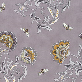Bee Joyful Bees and Blooms Grey 1987113