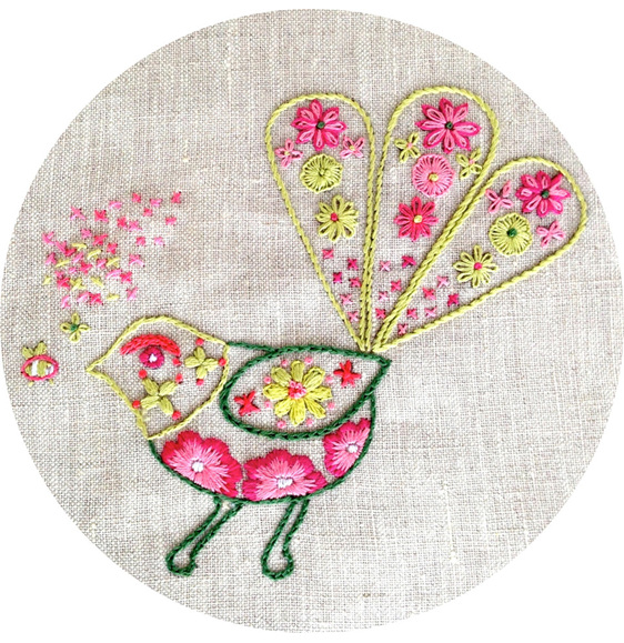bee meets fantail embroidery pattern pdf