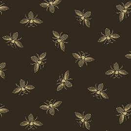 Beehive Bees Black A-9084-K