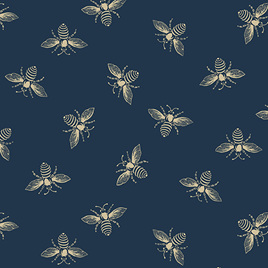 Beehive Bees Blue A-9084-B