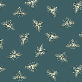 Beehive Bees Teal A-9084-T