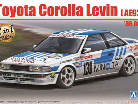 Beemax 1/24 Toyota Corolla Levin (AE92) '88 Gr.A