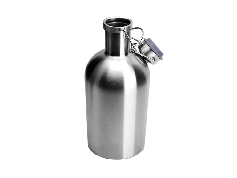 Beer growler, 62 Oz growler, stainless steel pressure vessel