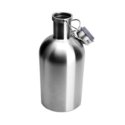 1.9L Stainless Steel Growler with swing top
