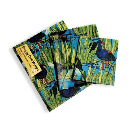 Bees Wax Wrap - Large Pukeko