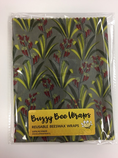 Bees Wax Wrap - Pack of 3 - Flax
