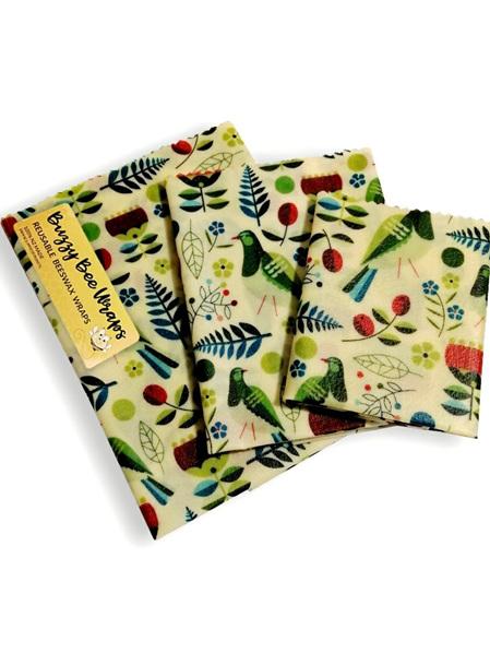 Bees Wax Wrap - Pack of 3 - Kereru