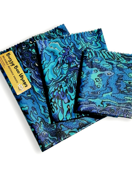 Bees Wax Wrap - Pack of 3 - Paua