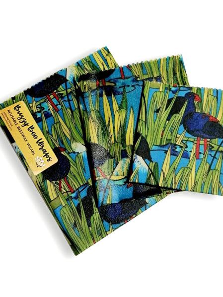 Bees Wax Wrap - Pack of 3 - Pukeko
