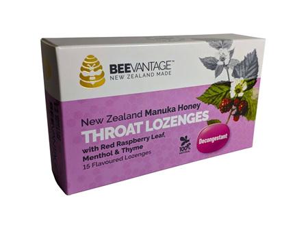 BeeVantage Manuka and Red Raspberry Throat Lozenges
