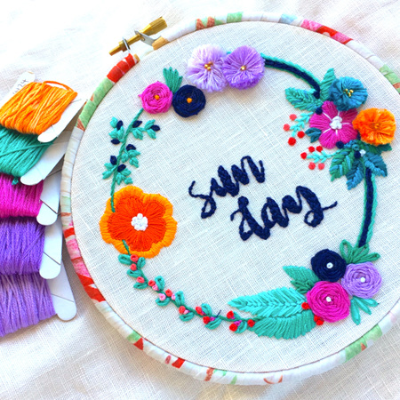 Beginner Embroidery Workshop Deposit 21 Nov. FULL