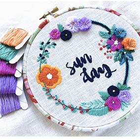 Beginner Embroidery Workshop Deposit July