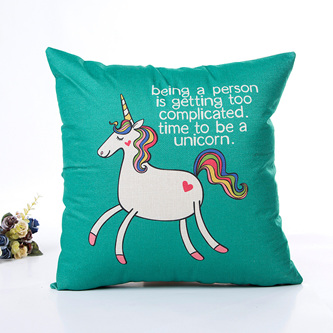 Being a person is getting too complicated.  Time to be a unicorn Cushion Cover