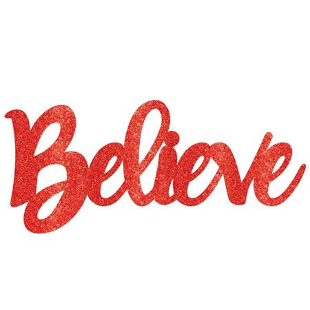 Believe Glitter sign