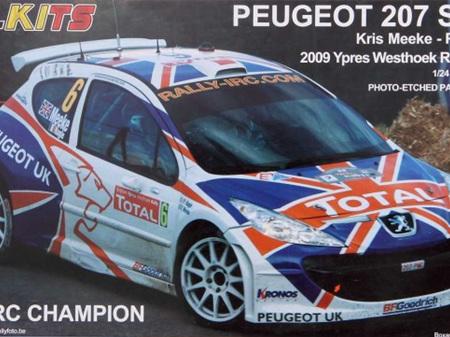 Belkits 1/24 Peugeot 207 S2000 2009 IRC Champion